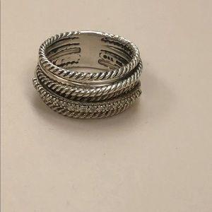 David Yurman crossover ring size 8-1/2